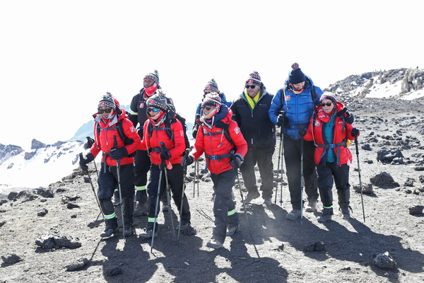 'Kilimanjaro: The Return' For Red Nose Day [mountainous landforms,mountain,mountaineering,adventure,mountaineer,outdoor recreation,backpacking,recreation,hiking,geological phenomenon,editorial use,charge,funds,kilimanjaro: the return for red nose day,images,dan walker,ed balls,shirley ballas,anita rani,jade thirlwall]