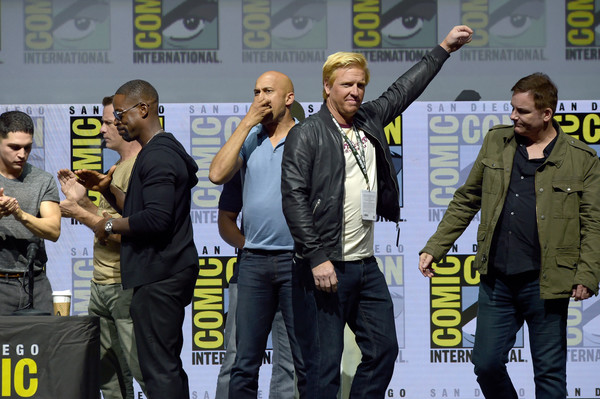Comic-Con International 2018 - 20th Century Fox's 'The Predator' Panel [comic-con international 2018,yellow,event,competition event,team,games,keegan-michael key,jake busey,thomas jane,sterling k. brown,the predator panel,l-r,panel,san diego convention center,20th century fox]