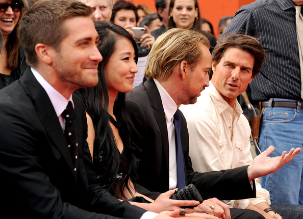 Jerry Bruckheimer Hand And Foot Print Ceremony At Grauman's Chinese Theatre
