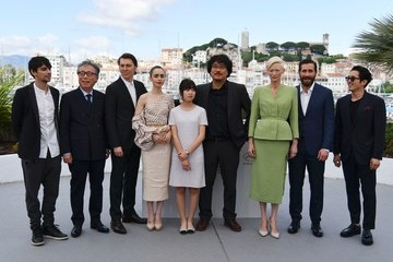Jake Gyllenhaal Lily Collins 'Okja' Photocall - The 70th Annual Cannes Film Festival
