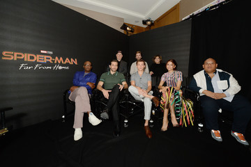 Jake Gyllenhaal Tom Holland Spider-Man: Far From Home Facebook Live Photo Call