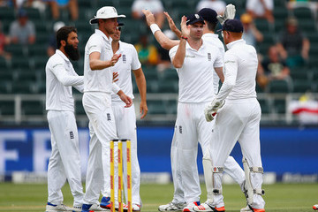 James Anderson Jonny Bairstow South Africa v England - Third Test: Day One
