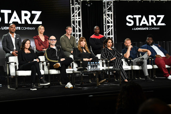 2020 Winter TCA Tour - Day 8 [music,event,musician,performance,musical ensemble,team,musical instrument,stage,concert,orchestra,amaury nolasco,riley voelkel,rebecca cutter,monica raymund,gary lennon,l-r,top row,bottom row,pasadena,winter tca,monica raymund,amaury nolasco,dohn norwood,gary lennon,hightown,photography,actor,people store,image]