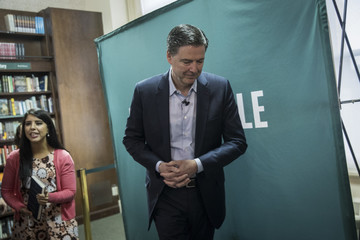 James Comey Former FBI Director James Comey Appears At Barnes And Noble In New York Promoting His New Book