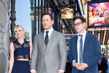 James Gunn Chris Pratt Honored With Star On The Hollywood Walk Of Fame
