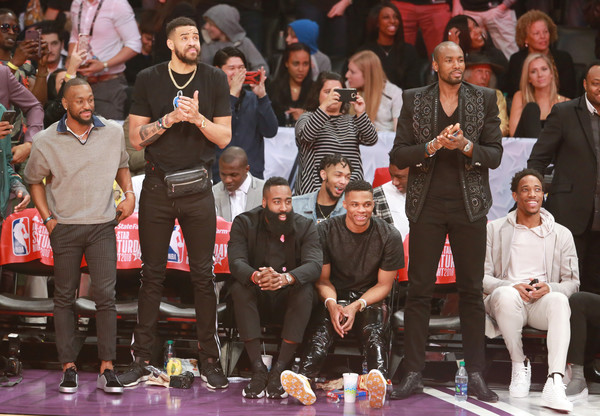 576bd13a13f7 James Harden and Demar Derozan Photos»Photostream · Pictures · Celebrities  Attend the 2018 State Farm All-Star Saturday Night