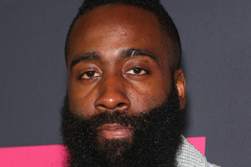 James Harden SHOWTIME, WME IMG, and MAYWEATHER PROMOTIONS VIP Pre-Fight Party Arrivals on the T-Mobile Magenta Carpet for Mayweather VS McGregor