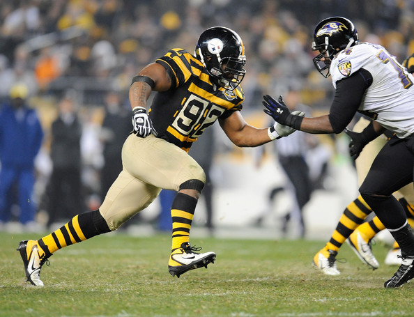 on sale 82483 f995b James Harrison and Michael Oher Photos Photos - Baltimore ...