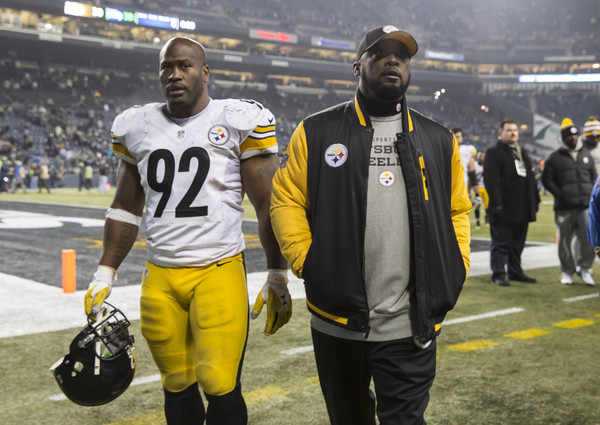 James Harrison, Mike Tomlin, starting James Harrison