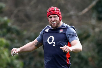 James Haskell England Training Session