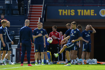 James McArthur Scotland Training Session and Press Conference