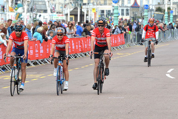 James Middleton Pippa Middleton Finishes the London to Brighton Bike Ride for the British Heart Foundation