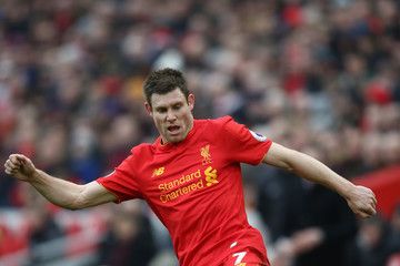 James Milner Liverpool v Swansea City - Premier League