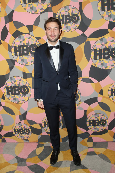 HBO's Official Golden Globes After Party - Arrivals [suit,formal wear,yellow,fashion,tuxedo,outerwear,blazer,art,pattern,style,james wolk,california,los angeles,circa 55 restaurant,golden globes,hbo,party,arrivals,stock photography,getty images,photography,photograph,image,succession,\u30b9\u30c8\u30c3\u30af\u30d5\u30a9\u30c8,golden globe awards,royalty-free]