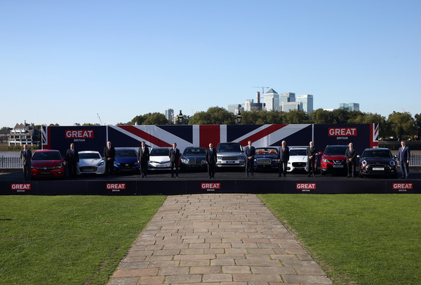 British-Built Cars Line-up Before They Travel to Major Motor Show