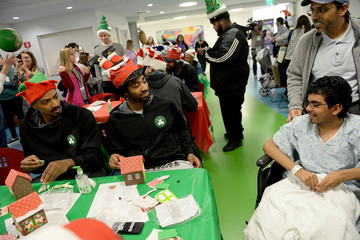 James Young Celtics Visit Boston Children's Hospital for Crafting and Caroling with Patients