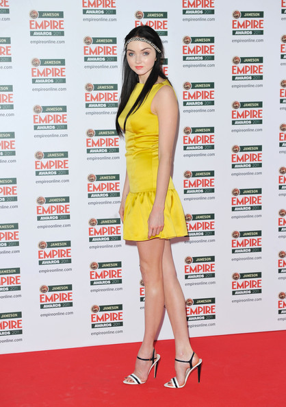 Model Lily Cole attends the Jameson Empire Awards at the Grosvenor House Hotel on March 27, 2011 in London, England.