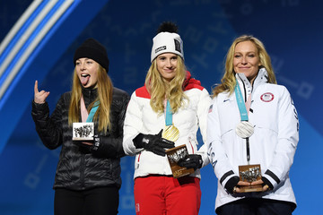 Jamie Anderson Medal Ceremony - Winter Olympics Day 13
