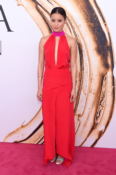 2016 CFDA Fashion Awards - Arrivals [fashion model,flooring,carpet,dress,fashion,gown,red carpet,fashion show,catwalk,model,arrivals,jamie chung,hammerstein ballroom,new york city,cfda fashion awards]