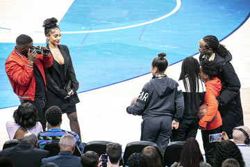 Jamie Foxx Celebrities Attend The 68th NBA All-Star Game - Inside