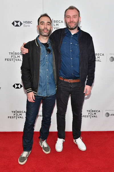 'Obey' - 2018 Tribeca Film Festival [premiere,carpet,red carpet,event,denim,outerwear,flooring,textile,jacket,jeans,jamie jones,albert salas,obey,new york city,cinepolis chelsea,tribeca film festival,screening]