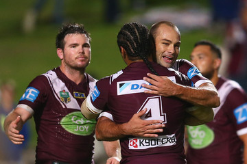 Jamie Lyon Steve Matai NRL Rd 3 - Sea Eagles v Sharks