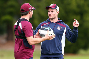 Jamie Lyon Manly Sea Eagles Training Session
