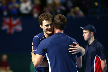 Jamie Murray Leon Smith Great Britain v Japan - Davis Cup: Day Two