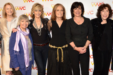 Jane Fonda Gloria Steinem Arrivals at the Women's Media Awards