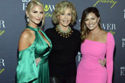 ATLANTA OCTOBER 04:  Event Co-Chairs Brittany Padgett and Kellie Bannon with Jane Fonda (C), GCAPP Founder Board Chair Emeritus, attends The 2018 Georgia Campaign For Adolescent Power & Potential (GCAPP) EmPower Party - Hosted by Jane Fonda on October 4, 2018 at The Fairmont in Atlanta, Georgia.