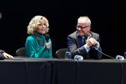 Thierry Fremaux (R) attends the Jane Fonda's (L) Masterclass At 10th Film Festival Lumiere on October 19, 2018 in Lyon, France.