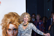 Jane Fonda attends the Prix Lumiere 2018 At 10th Film Festival Lumiere on October 19, 2018 in Lyon, France.