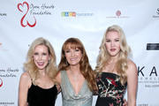 Kim Campbell, Jane Seymour and Ashley Campbell at Jane Seymour And The 2017 Open Hearts Gala at SLS Hotel on October 21, 2017 in Beverly Hills, California.