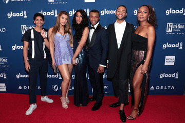 Janet Mock Hailie Sahar 29th Annual GLAAD Media Awards - Red Carpet
