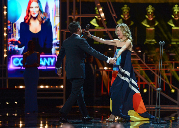 The Olivier Awards 2019 With Mastercard - Show [best actor in a supporting role in a musical,entertainment,performance,performing arts,event,musical theatre,stage,performance art,musical,heater,dance,janie dee,jonathan bailey,olivier awards,award,stage,royal albert hall,england,company,mastercard - show]