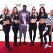 Janina Celebrities At The Monster Energy NASCAR Cup Series Race At Auto Club Speedway