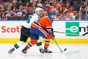 Jannik Hansen San Jose Sharks v Edmonton Oilers - Game Two
