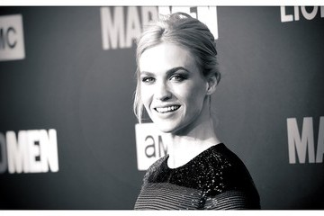 January Jones AMC Celebrates 'Mad Men' With The Black & Red Ball - Arrivals