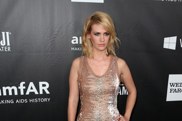 January Jones Arrivals at amfAR's Inspiration LA Gala — Part 2