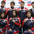 Aya Terakawa Ryosuke Irie Photos - (Front L-R) Natsumi Hoshi, Aya Terakawa and Satomi Suzuki, (Back L-R) Takeshi Matsuda, Ryosuke Irie, Kosuke Kitajima and head coach Norimasa Hirai pose during a press conference to announce the Japan swimming team for the London 2012 Olympic Games at the Ajinomoto National Training Center on April 9, 2012 in Tokyo, Japan. - Japan Olympic Swimming Team Announcement