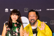 Takashi Murakami and Chiho Aoshima attend the Japan Supernatural Exhibition Opening at the Art Gallery Of NSW on November 01, 2019 in Sydney, Australia.