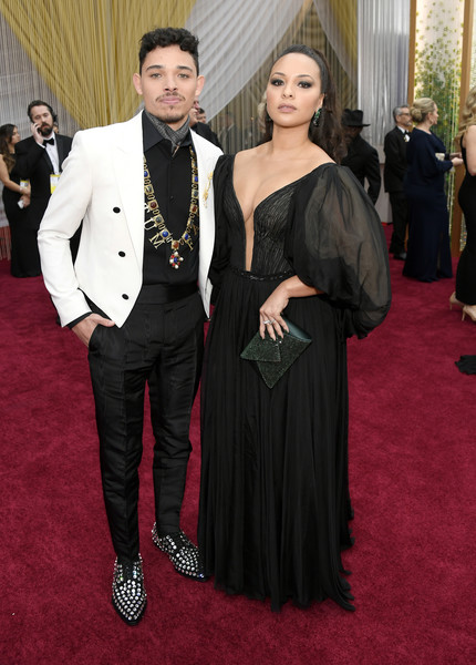 92nd Annual Academy Awards - Red Carpet [red carpet,red carpet,carpet,suit,clothing,formal wear,flooring,dress,fashion,event,tuxedo,jasmine cephas jones,anthony ramos,l-r,hollywood,california,highland,92nd annual academy awards,anthony ramos,jasmine cephas jones,in the heights,hamilton,red carpet,celebrity,academy awards,photograph,stock photography]