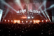 """Audience members with their mobile phones photograph the opening of recording artist Jason Aldean's launch of his three-night """"JASON ALDEAN: RIDE ALL NIGHT VEGAS"""" engagement at Park Theater at Park MGM on December 6, 2019 in Las Vegas, Nevada."""