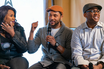 Jason Dirden BET Presents American Soul Clips And Conversation With Jesse Collins, Sinqua Walls, Devon Greggory, Jason Dirden, Kelly Price At Blackhouse During Sundance Film Festival