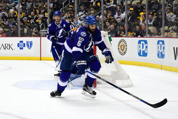 Jason Garrison Tampa Bay Lightning v Pittsburgh Penguins