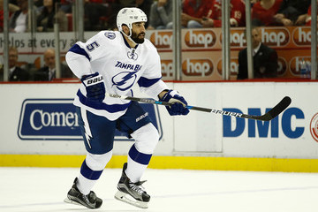 Jason Garrison Tampa Bay Lightning v Detroit Red Wings