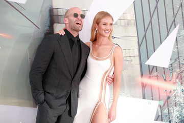 Jason Statham Rosie Huntington-Whiteley Premiere Of Universal Pictures' 'Fast And Furious Presents: Hobbs And Shaw' - Arrivals
