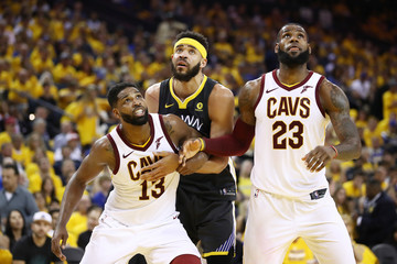 Javale Mcgee Tristan Thompson 2018 NBA Finals - Game Two