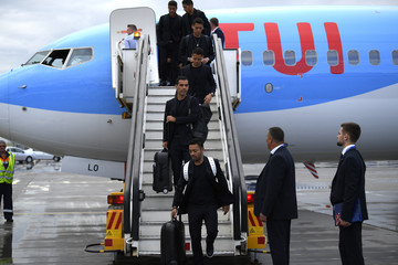 Javier Hernandez Marco Fabian Mexico Arrives In Moscow For FIFA World Cup Russia 2018