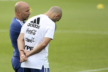 Javier Mascherano Argentina Training Session And Press Conference - FIFA World Cup Russia 2018